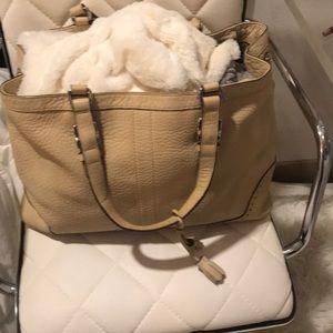 Coach tan satchel